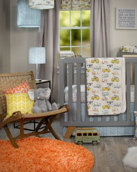 Happy Camper 3Pc Set Includes quilt sheet crib skirt by