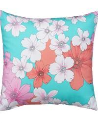 Pillow  Aqua Print by