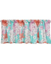 Window Valance Aqua Floral Approximately 70x23 in  by