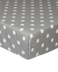 Kaitlyn Fitted Sheet Grey Dot by