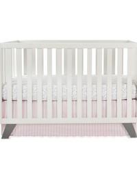 2Pc Starter Set Includes  sheet crib skirt by