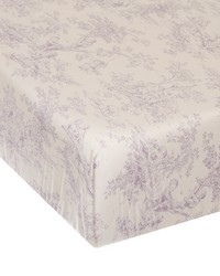 Fitted Sheet Purple toile by