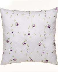 Pillow  Emb Overlay face Purple gingham back by