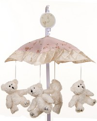 Cottage Rose Musical Mobile Plays Brahms Lullaby by