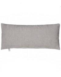 Luna Rectangular Bolster Pillow Silver by