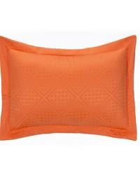 Lilly and Flo Large Sham Orange Matelasse by