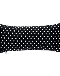 Pippin Rectangular Bolster Pillow Black  White Dot by