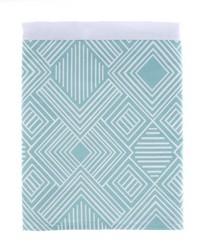 Soho Twin Skirt Aqua Print by