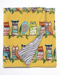 Lil Hoot Full Queen Duvet Owl   Grey Wood Print Reversible 87x91 in  by