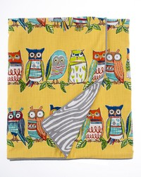 Lil Hoot Twin Duvet Owl Grey Wood Print Reversible by