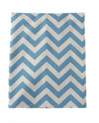 Twin Skirt Blue Grey Chevron 22 in  Drop by