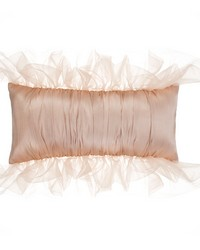 Bolster Reversible Pink Cream Pintuck by