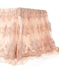 Queen Skirt Crinkle w overlay 22 in  Drop by