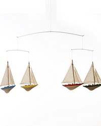 Sailboat Ceiling Mobile 36.5x1.5x12.5 in  by