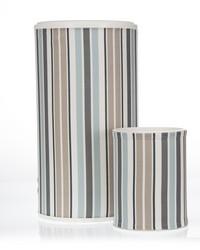 Luna Hamper  Waste Can Set 23.5x13x13  11x8.5x8.5 Stripe by