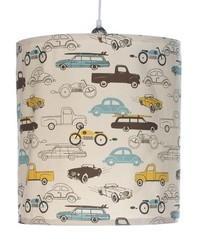 Traffic Jam Hanging Drum Shade Cars by