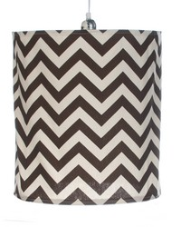 Traffic Jam Hanging Drum Shade Brown Chevron by
