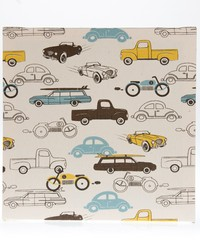 Traffic Jam Wall Art  Cars 14x14x1.5 in  Fabric Covered Canvas by