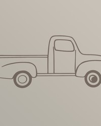 Traffic Jam Wall Decal  Truck Brown 24x10 in  by