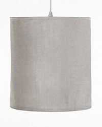 Hanging Drum Shade Sparkly Grey Velvet by