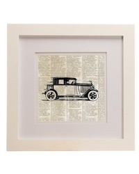 Traffic Jam Framed Wall Art  Roadster Print 14x14x.75 in  by