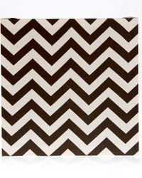 Traffic Jam Wall Art  Brown Chevron 14x14x1.5 in  Fabric Covered Canvas by