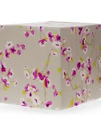 Blossom Pouf  Floral 17x17x17 Firm Foam Fill; Zipper Closure by