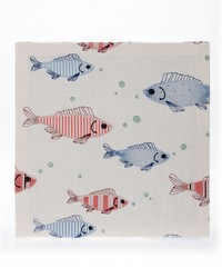 Fish Tales Canvas Wall Art Fish Embroidery by