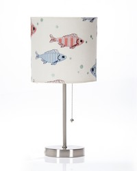 Fish Tales Mod Lamp and Fish Embroidery Shade by