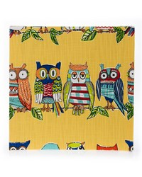 Lil Hoot Wall Art  Owls 14x14x1.5 in  fabric covered by