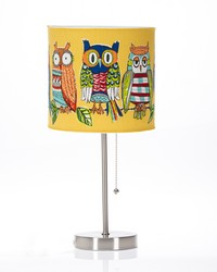 Lil Hoot Mod Table Lamp with Owl Shade by
