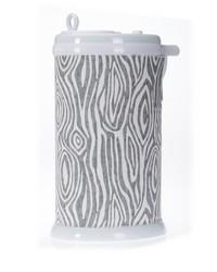 Lil Hoot Ubbi Diaper Pail Cover Grey Wood Print by