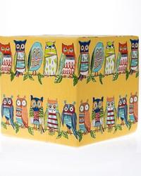 Lil Hoot Pouf  Owl  17x17x17 Firm Foam Fill; Zipper Closure by