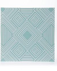 Soho Canvas Wall Art  Aqua Print 14x14x1.5 in  Fabric Covered by
