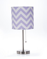 Swizzle Purple   Mod Table Lamp with Purple Chevron Shade  by