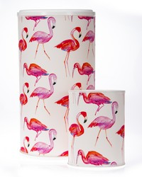 Lilly and Flo Hamper  Waste Can Set 23.5x13x13  11x8.5x8.5 Flamingo by