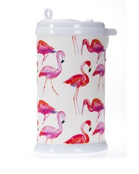 Lilly and Flo Ubbi Diaper Pail Cover Flamingo by