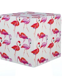 Lilly and Flo Pouf  Flamingo 17x17x17 Firm Foam Fill; Zipper Closure by