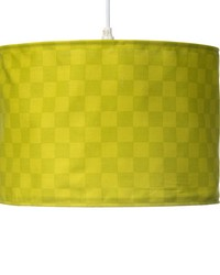 Hanging Drum ShadeGreen Check by