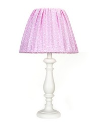 White Lamp W Pink Print Shade by
