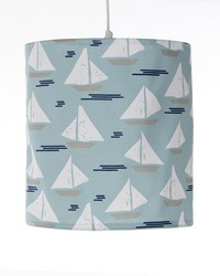 Hanging Drum Shade Sailboat by