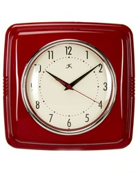 Retro Diner Wall ClockRed 22x2.5x13 in  by