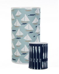 Little Sail Boat Hamper and Waste Can Set by