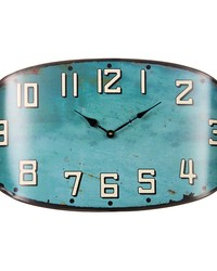 Surf Shop Metal Wall ClockTeal 22.x2.5x13 in  by