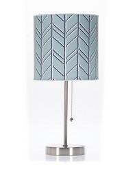 Mod Lamp   Shade Blue Chevron 60W by