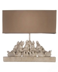 Bunnies Lamp 14lx5.5wx13h by