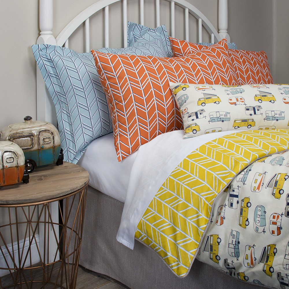 23 Camping Desserts The Ultimate Collection For Campers: Happy Camper Bedding Glenna Jean