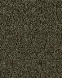 Black Classic Paisley Fabric  Eco Paisley Nightshade