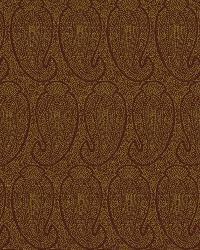 Orange Classic Paisley Fabric  Eco Paisley Persimmon
