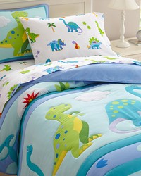 Olive Kids Dinosaur Land Twin Comforter Set  by